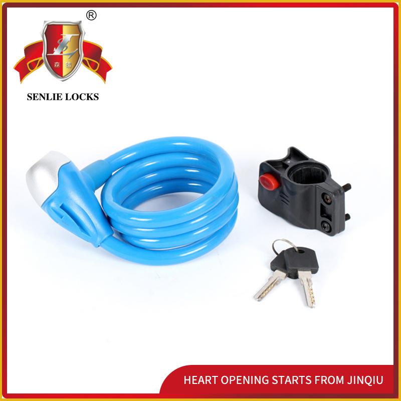 Jq8210-Q Colorful Bicycle Lock Waterproof Lock Steel Cable Lock