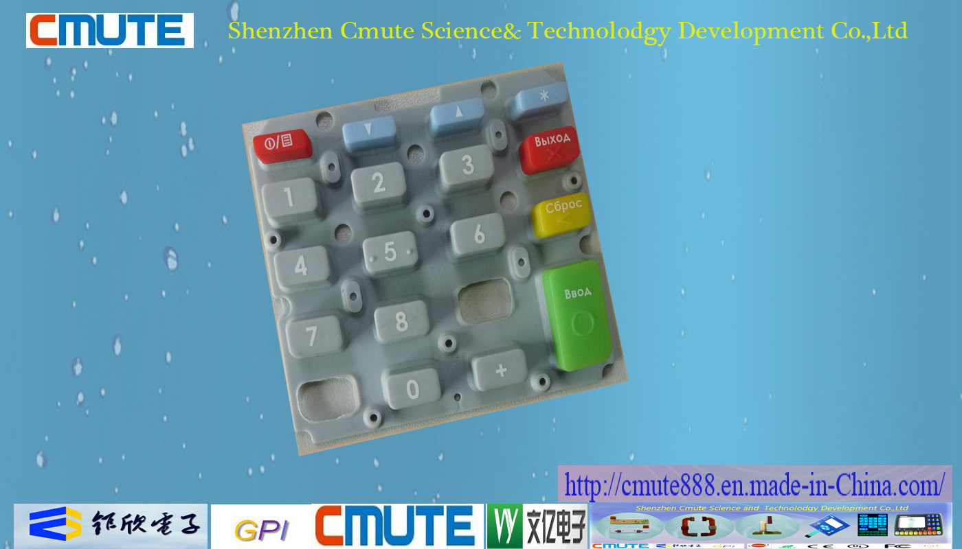 Planted Color Keys Silicone Rubber Keypad for electronic Parts