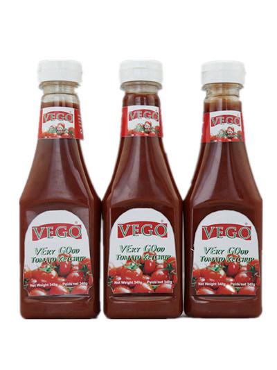 Wholesale Tomato Ketchup 340g Squeeze Bottle Plastic Bottle Dubai China Factory