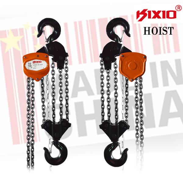 High Quality Kixio 0.3-20t Chain Pulley Block and Hoist