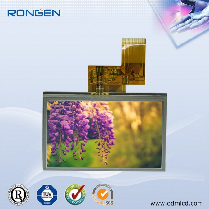 Rg043dtt-02r 4.3inch TFT LCD with Touch Screen PDA Display