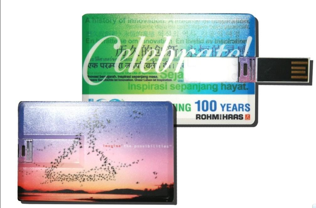 Plastic USB Webkey Business Card Size with Custom Printing