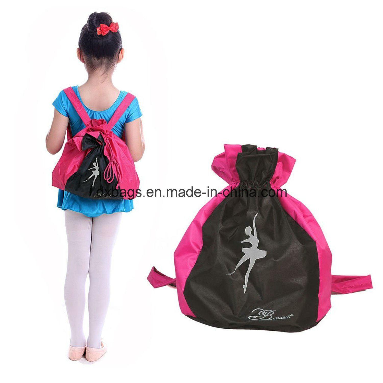 Dance Bags Shoulder Strap Drawstring School Backpack for Kids Girls Boys