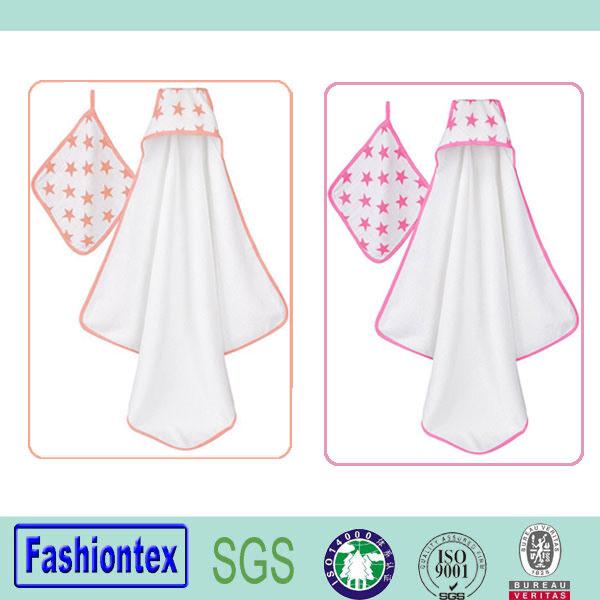 100% Cotton Newborn Muslin Hooded Towel Hooded Blanket