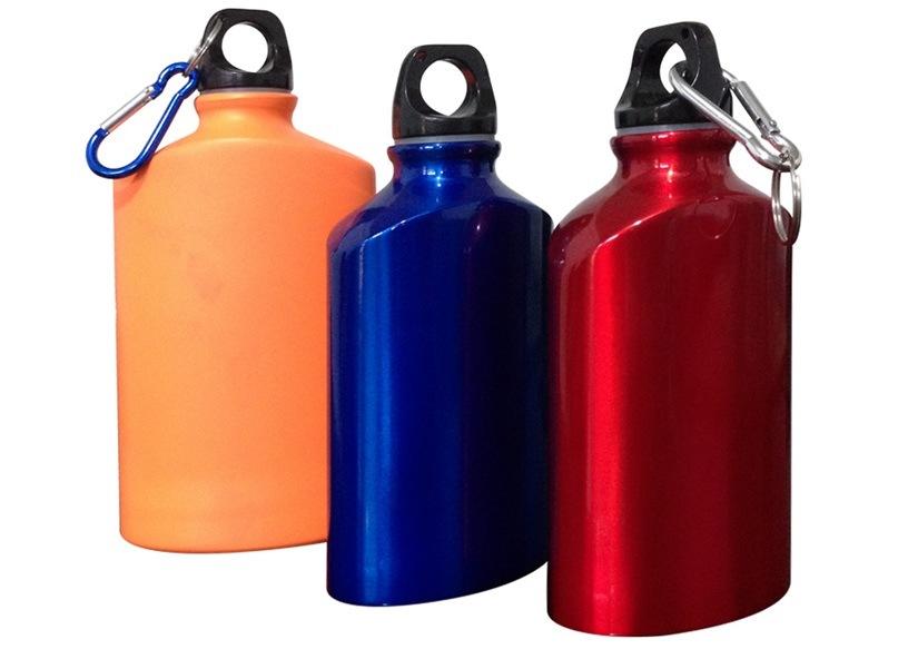 500ML Cheap Aluminum Sport Water Bottle, Promotion Water Bottle With Climbing Button