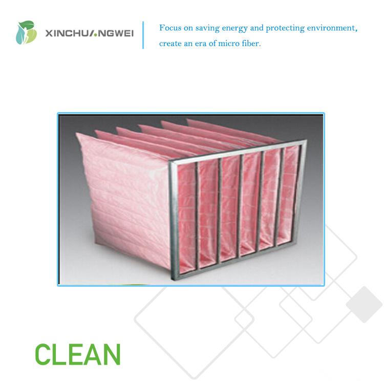 Pocket Filter Media Glass Microfiber Bag Filter Mat