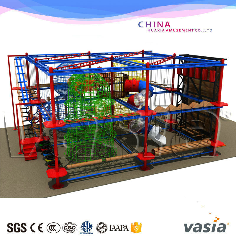 Customzied Design Available Kids Indoor Rope Course for Play Center