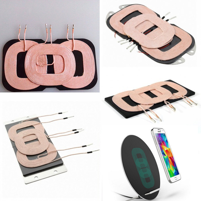 Mobile Device Wireless Charging A6 3 Coils Inductive Charger Coil