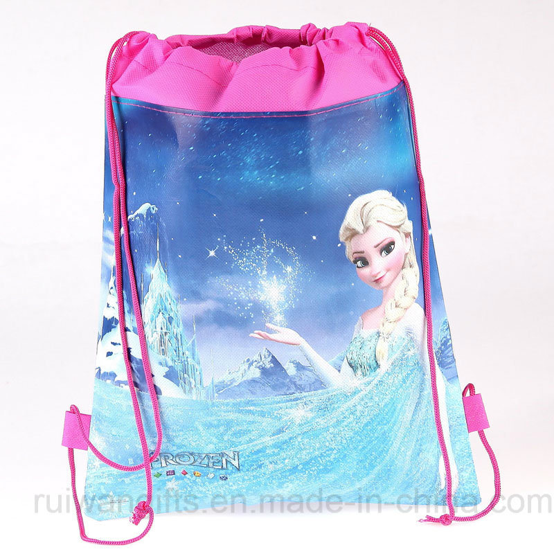 Wholesale Non-Woven Drawstring Backpack in Cartoon Style for Children