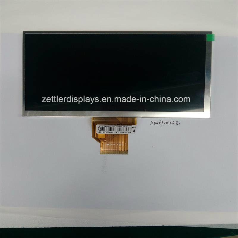 "7"" TFT Display, Resolution 800X480, RGB: ATM0700d6b"