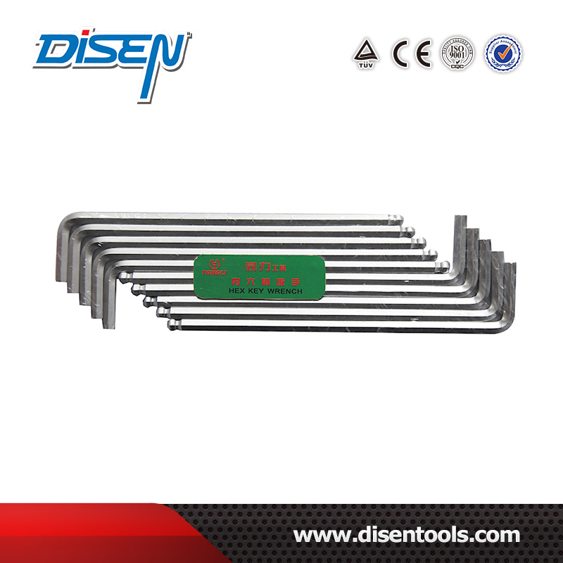 Inch S1/20-1/2 Chromel Plated CRV HRC52 Hex Key