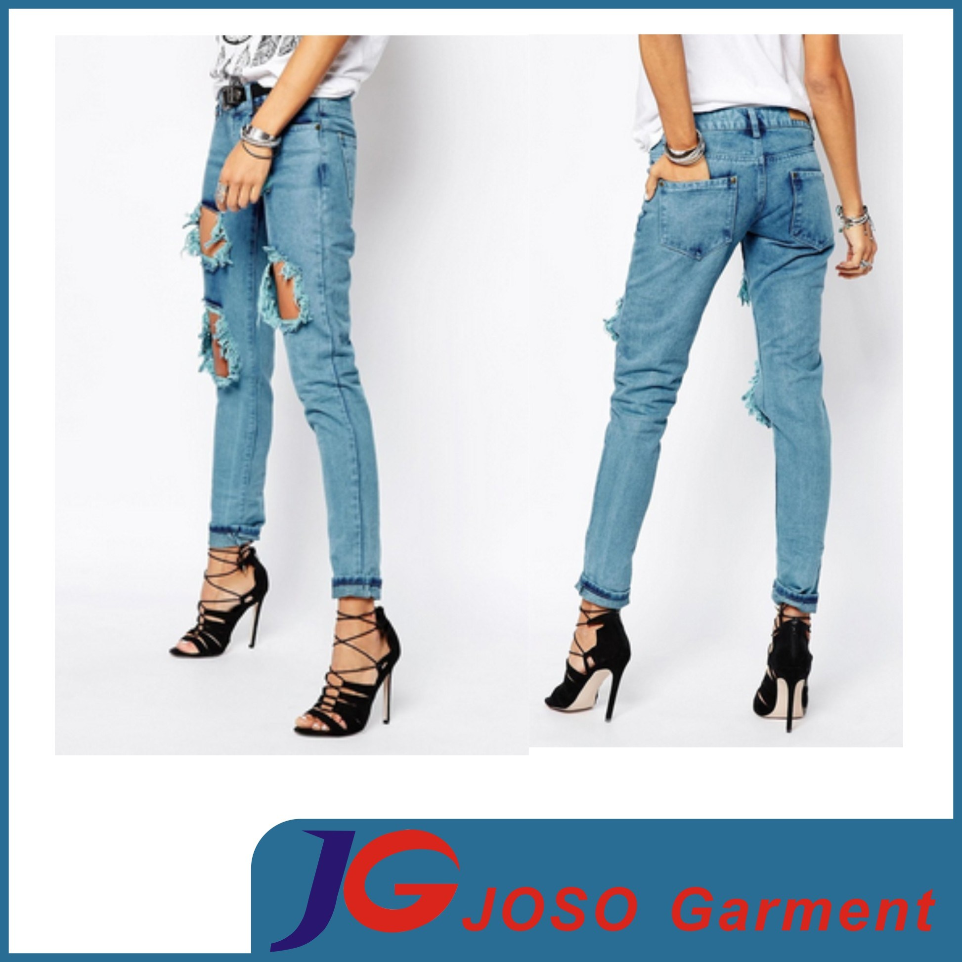 China Boys Friend Style Ripped Jeans Cruel Girl Jeans Sale (JC1357 ...