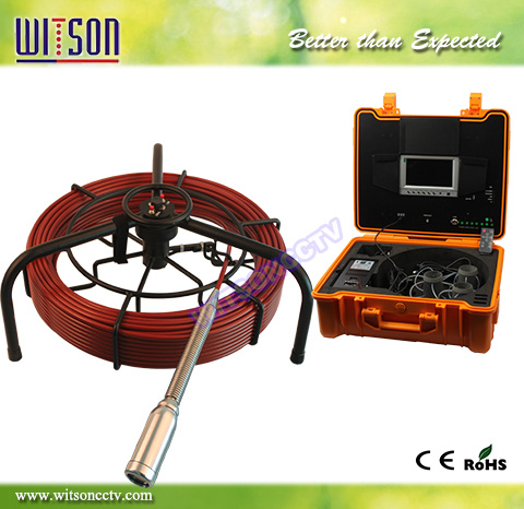 Witson 50m Pipe Inspection Equipment, 40mm Self-Leveling Camera Head (W3-CMP3588)