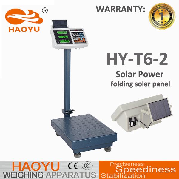 T6-2 Solar Panel Price Indicator Carbon Steel Frame Platform Scale