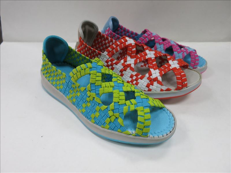 Man Women Colourful Woven Shoes