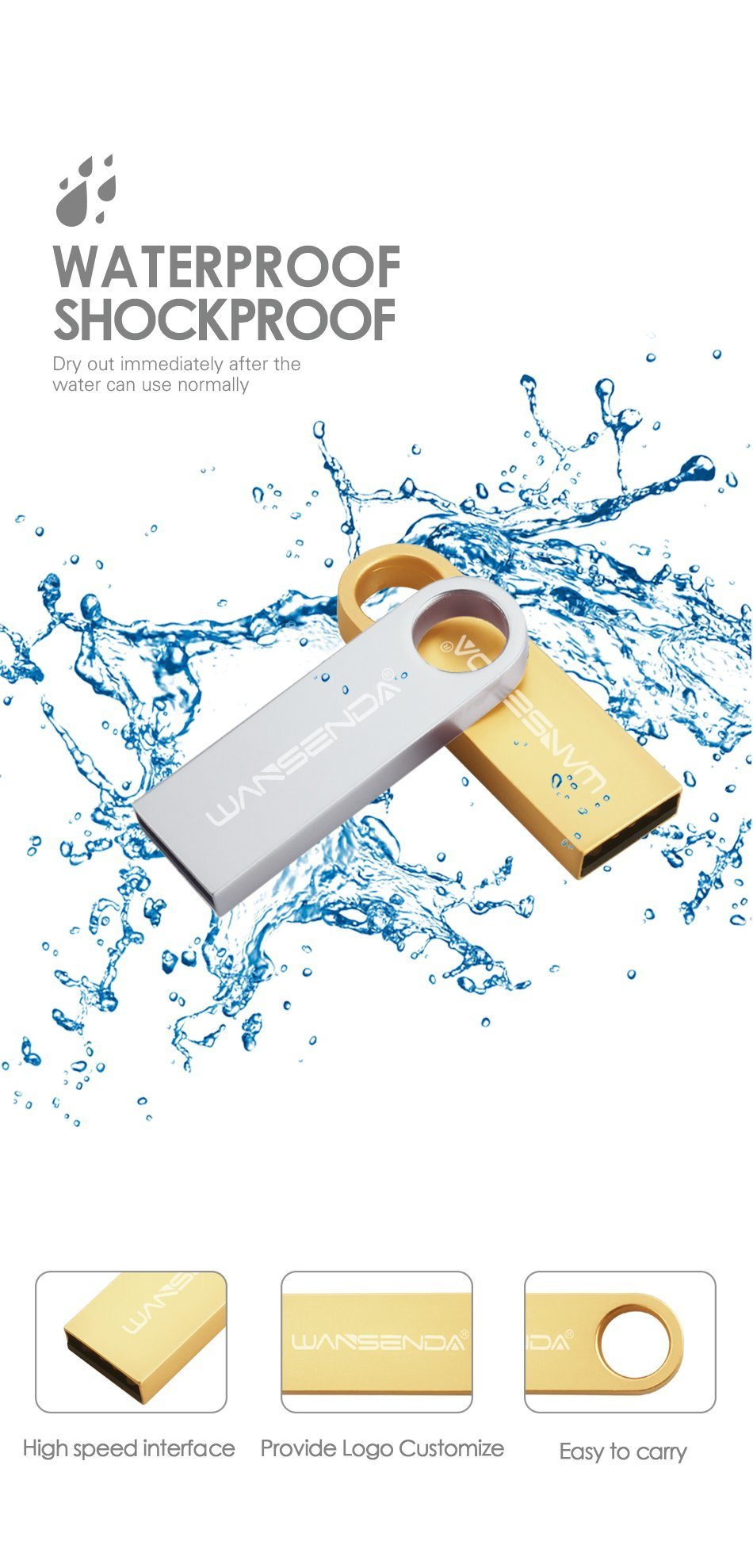 Promotional Gift Metal Card USB Flash Pen Drive with Logo