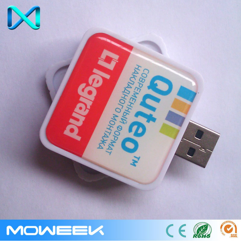 Wholesale Square Custom Retractable USB Memory Flash Drive