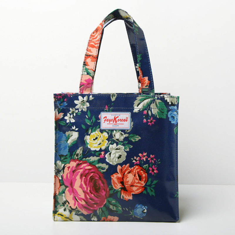 Pastoral Floral Patterns PVC Canvas Shopping Bag (2293-1)