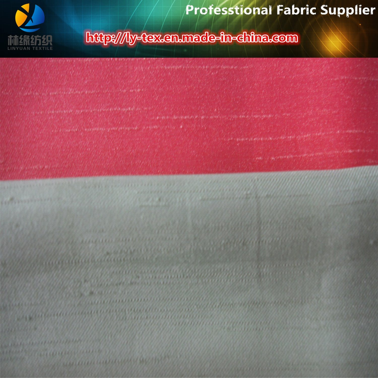 Polyester Slub Satin Silk Fabric, Double Effect for Garment/Shoes (R0039)