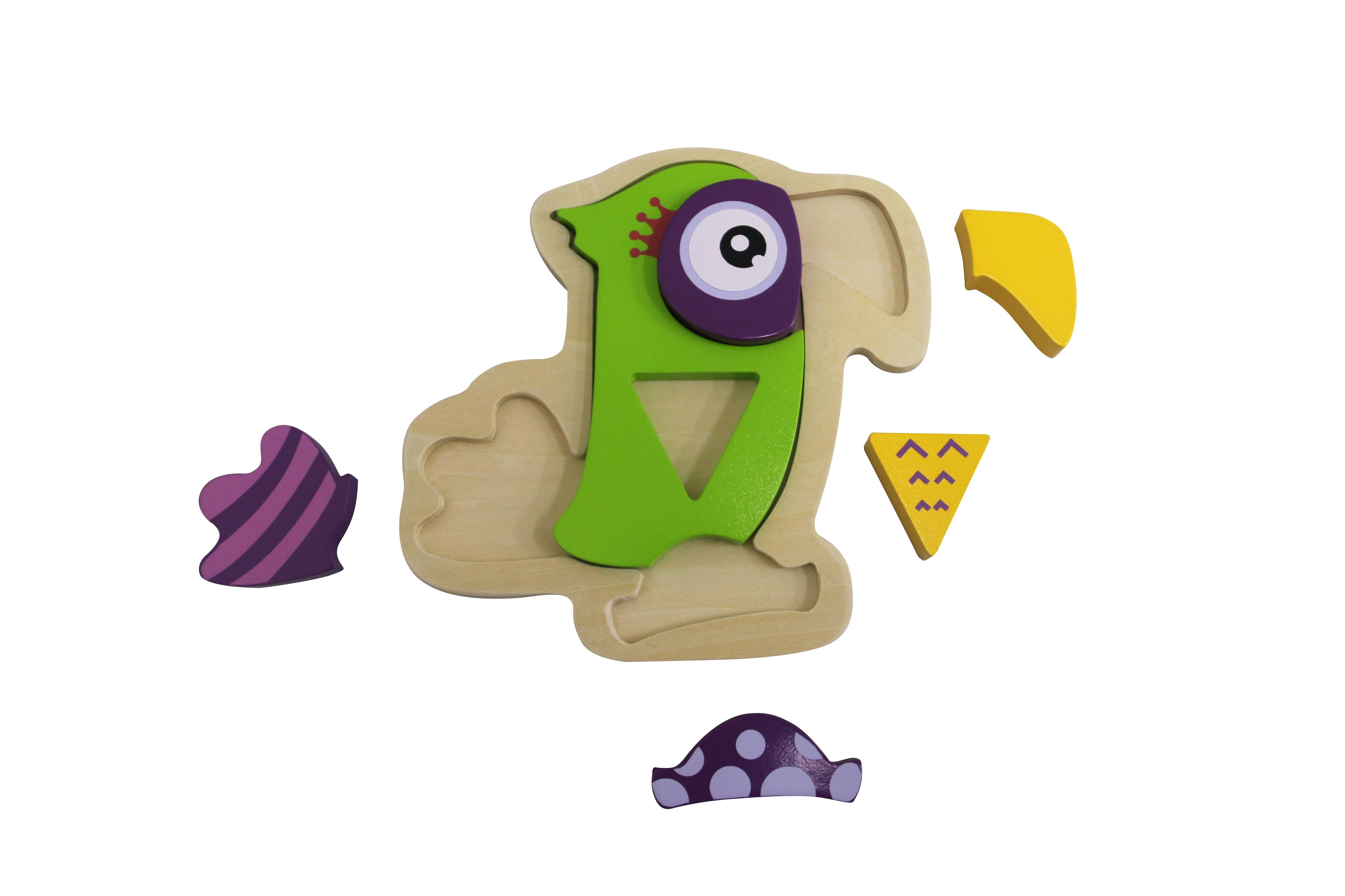 Wooden Parrot Puzzle Toy for Kids and Children