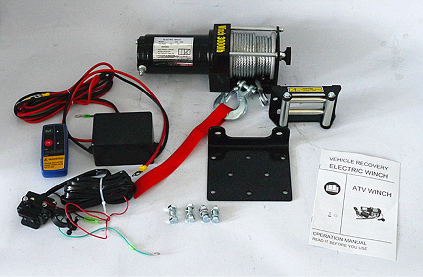 ATV Steel Gear Electric Winch Jeep Winch (3000lb-2)