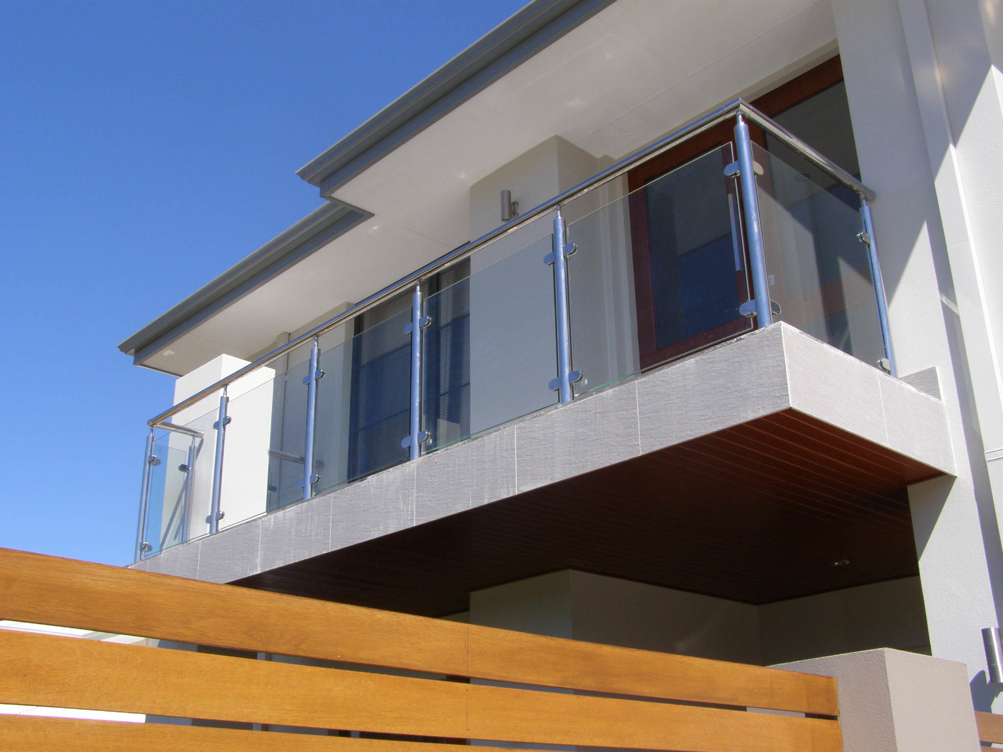 Balcony Temepred Glass Balustrade/Terrace Fence/Glass Railing