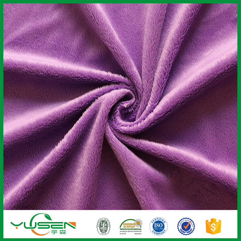 Warp Knitted Micro Poly Spun Velour Fabric