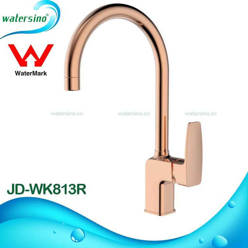 Rose Gold Water Mixer Tap Brass Faucet for Kitchen Sink