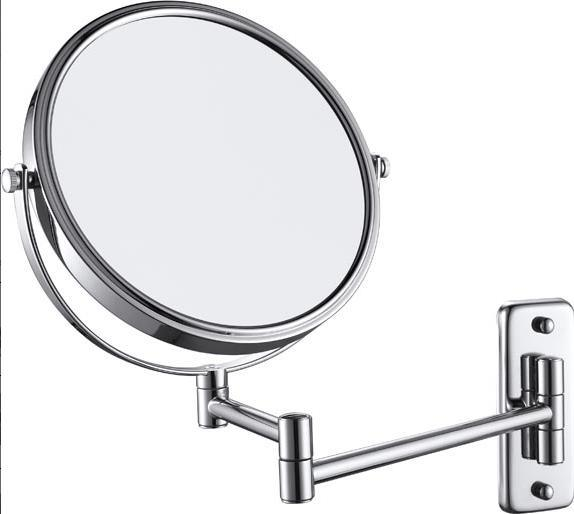 "8"" Stainless Steel Hotel Bathroom Wall-Mounting Folded Cosmetic Mirror (1032)"