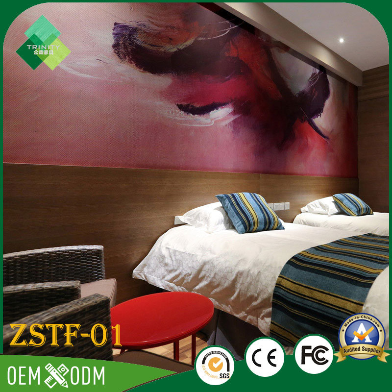 Chinese Style Teak Business Suite Hotel Furniture Bedroom Sets (ZSTF-01)
