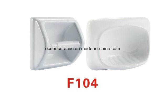 F107 Ceramic Soap Dish, Toilet Paper Holder, Bathroom Accessories
