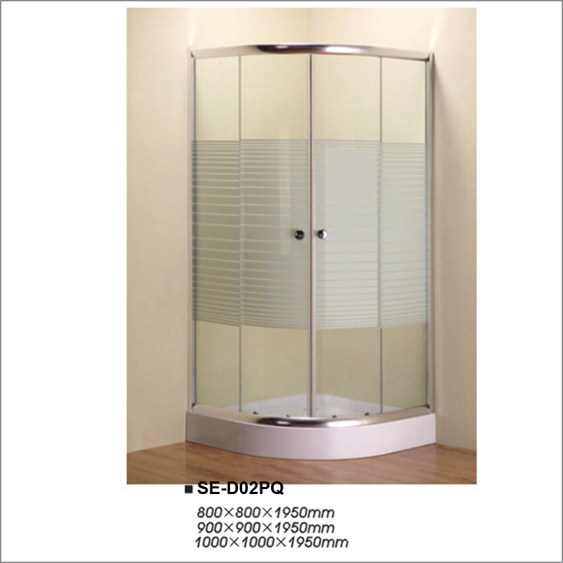 Painting Cross Strip Shower Cubicle with Sector Tray