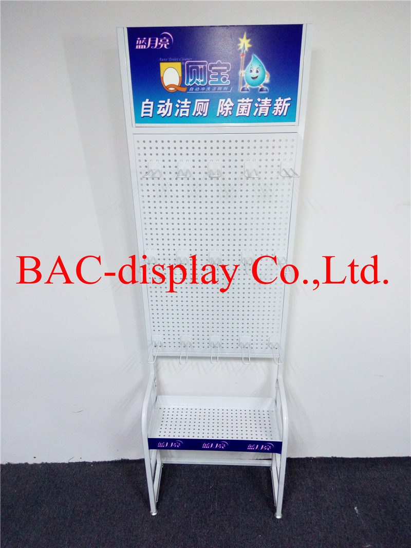 Retail Store Display Rack Stand with Metal Hooks