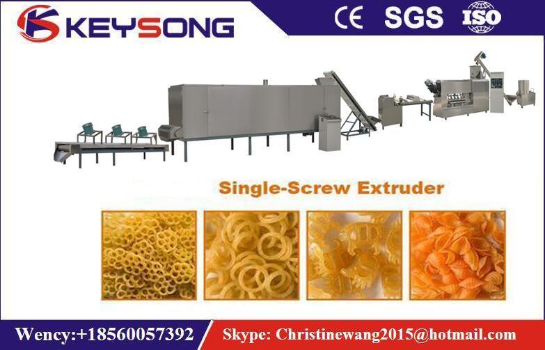 Single Screw Pasta Macaroni Puff Snack Food Extruder