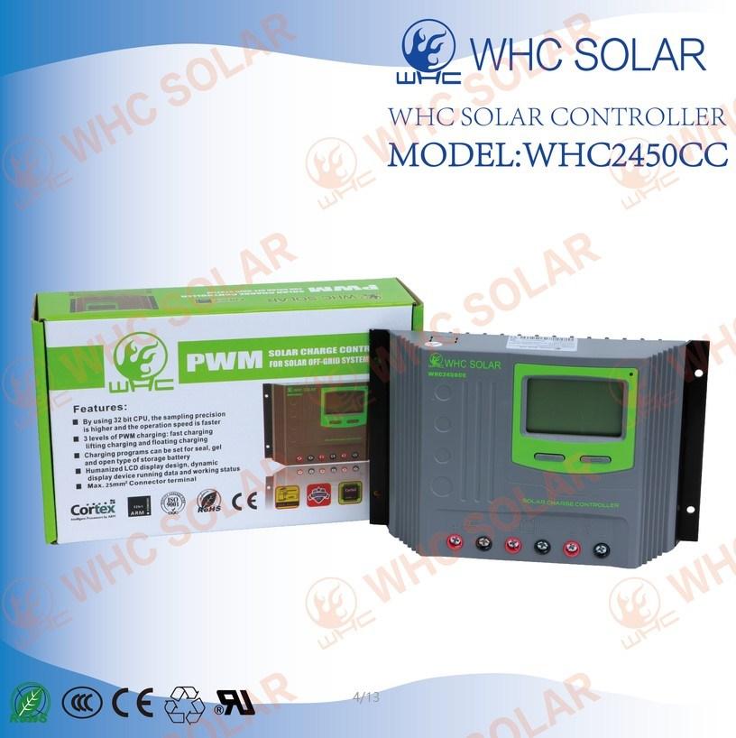 Plastics Shell 12V/24V 50A PWM Solar Charge Controller