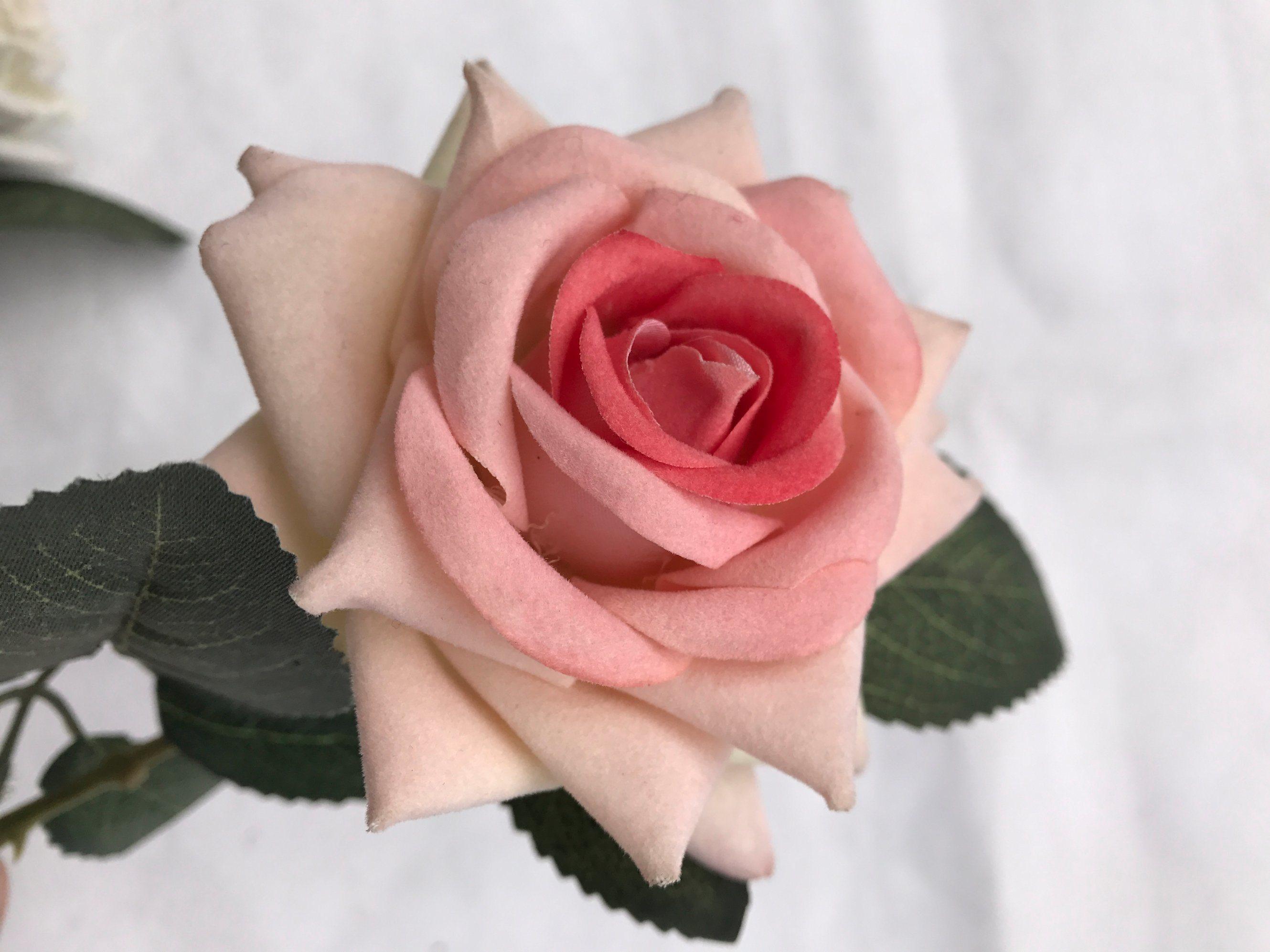 Artificial Fake Tea Rose Flower Posy Home Bridal Wedding Party Decor