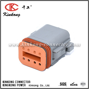 8 Pin Female Grey PA66 Dt Connector Dt06-8s/Dt06-08SA/At06-08SA/Dt04-08PA