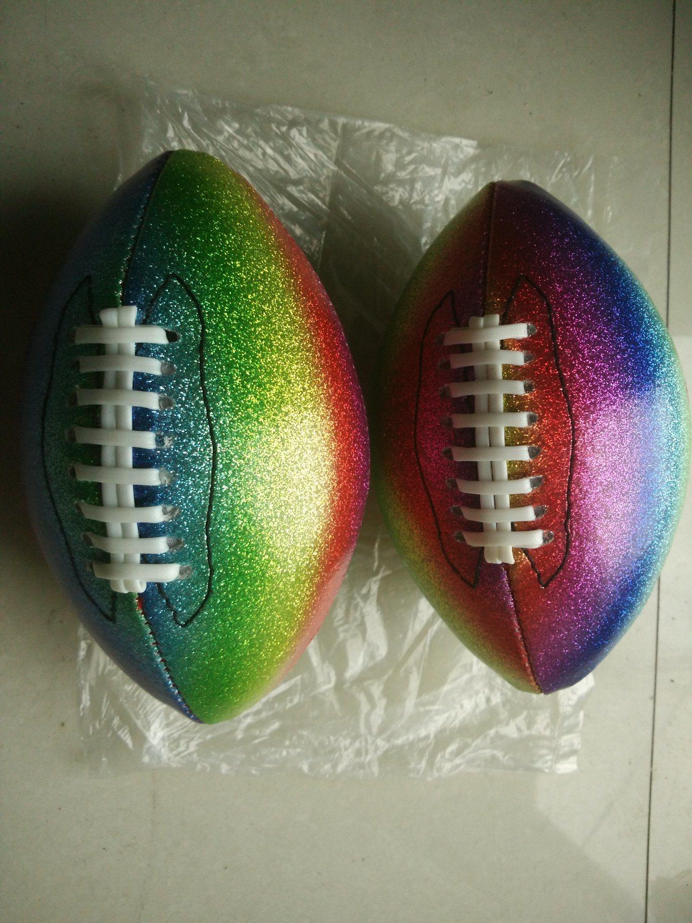 6# PVC Machine Stitching Flash American Football