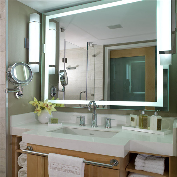 Waterproof Hotel Bathroom Electric Lighting LED Mirror for Us