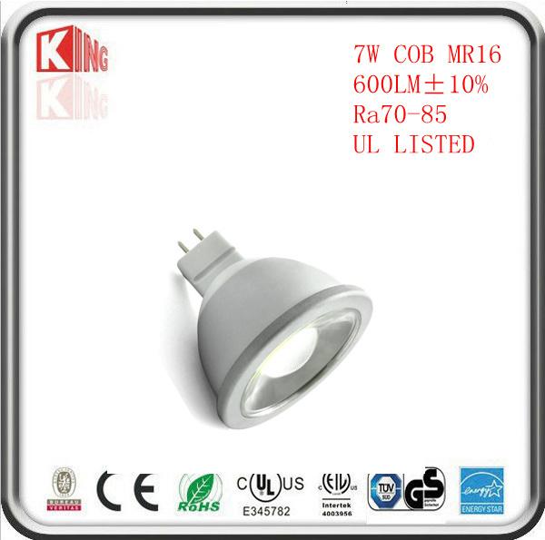 High Lumen COB AC DC 12V Dimmable LED MR16 Lamps Bulb