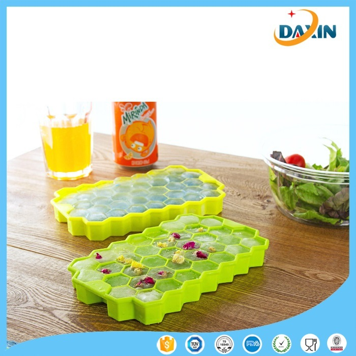 Honeycomb Shape Food-Grade Silicone Ice Cube Tray