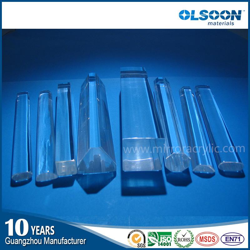 Guangzhou Manufacture Olsoon Acrylic Bubble Rod/Plexiglass Rod