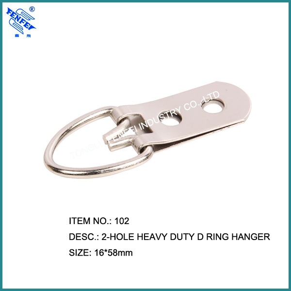 2 Holes Heavy Duty D-Ring Picture Frame Hangers (102)