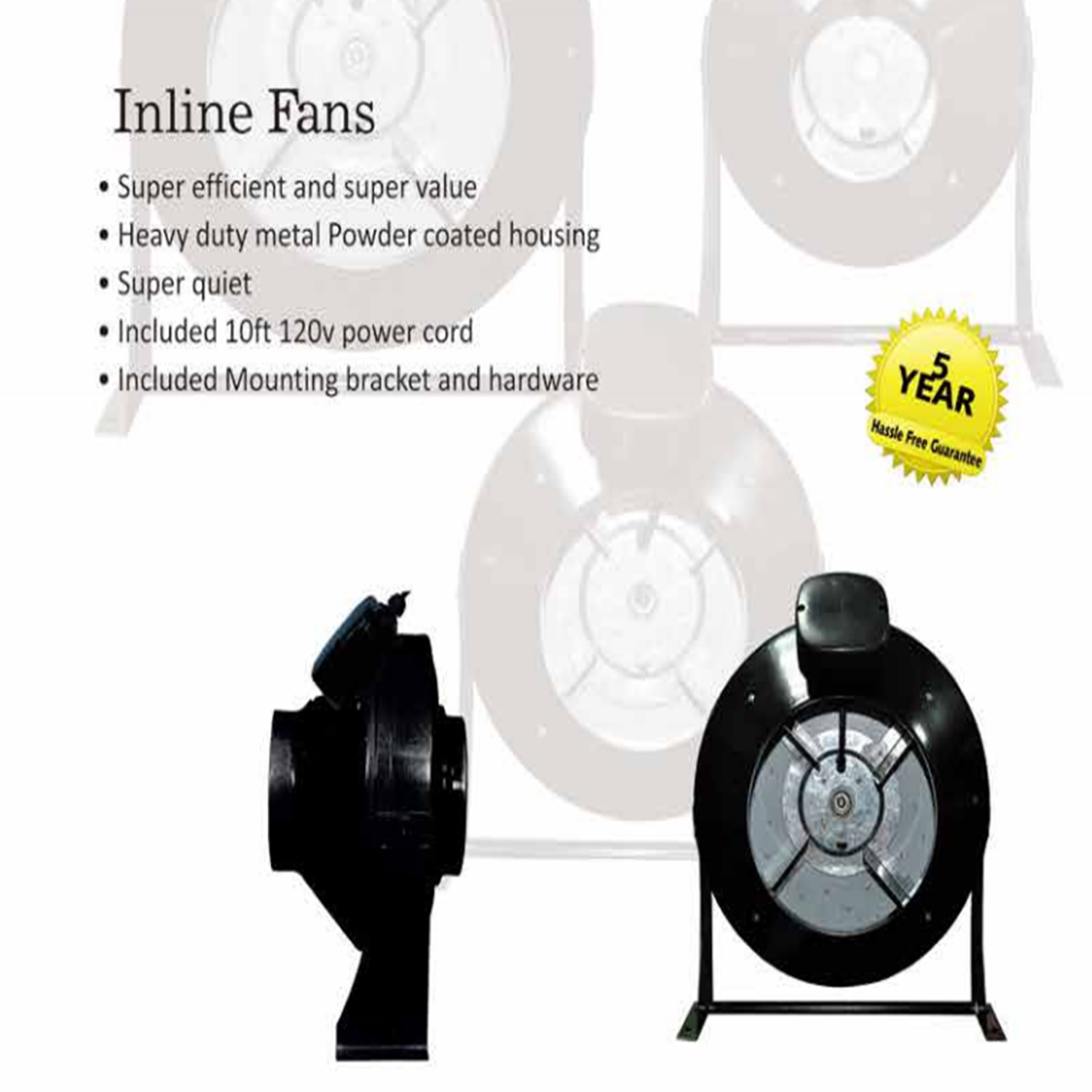 Super Quiet Inline Duct Fan