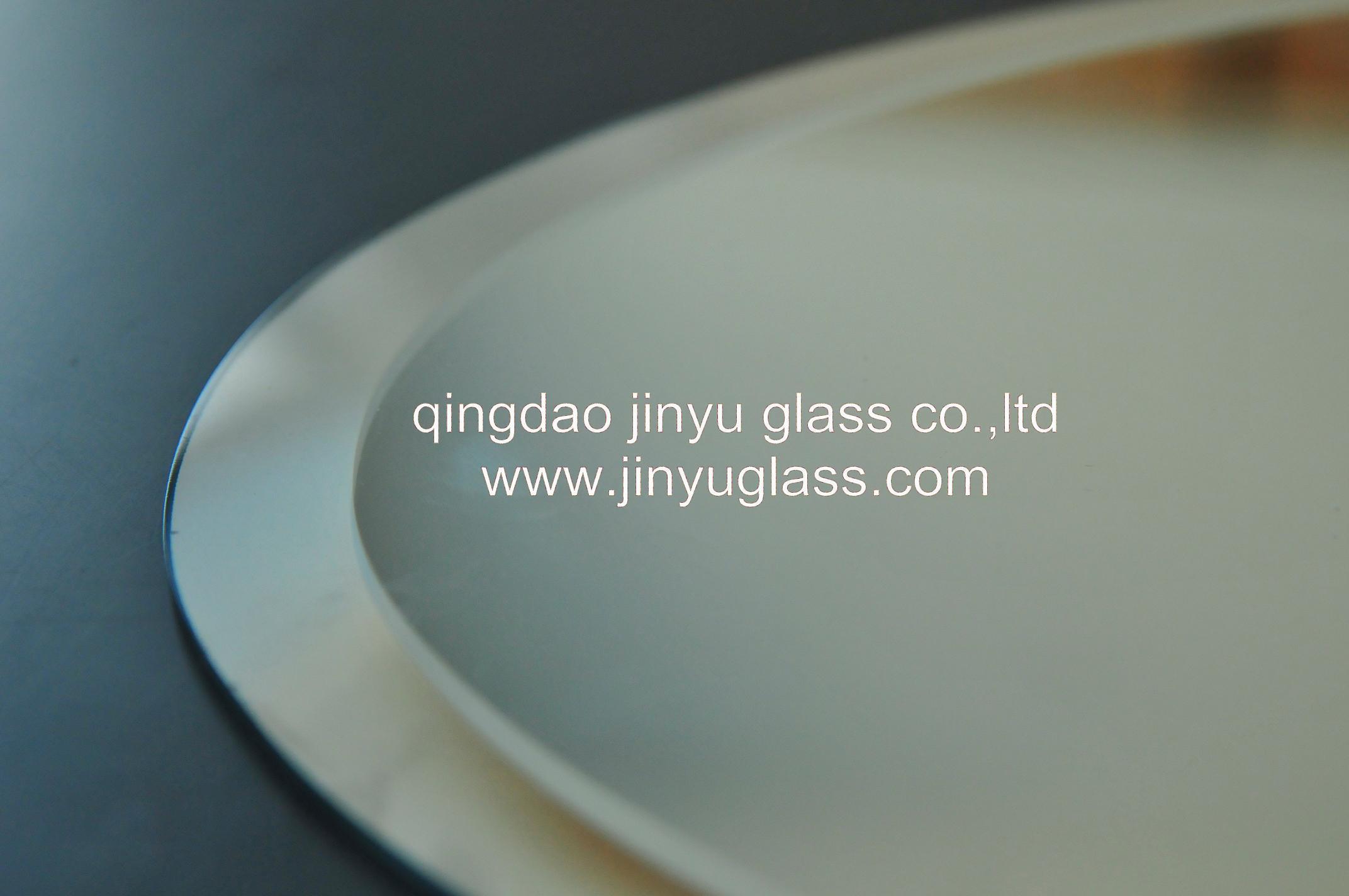 Espejo de plata con los bordes biselados espejo de plata for Espejo con borde biselado