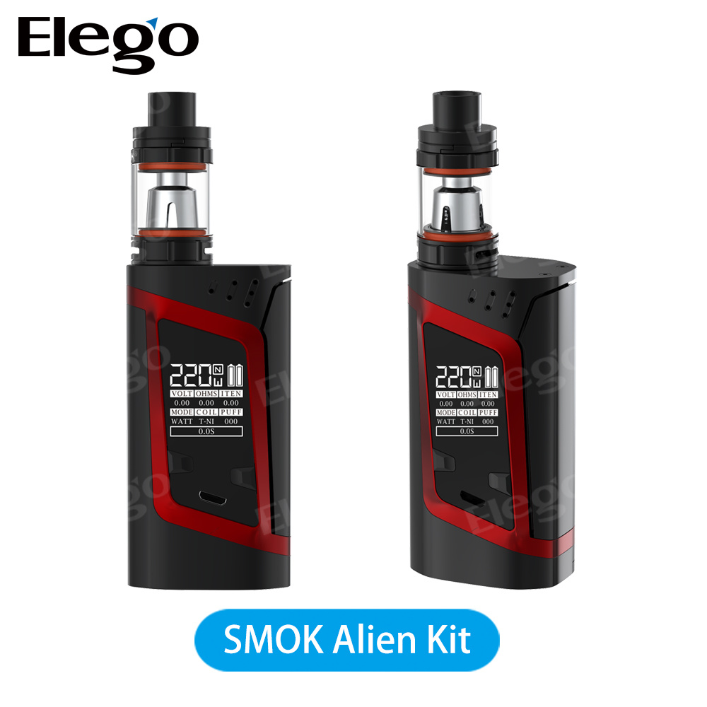 in Stock Great Sale 100% Authentic Smok Alien Kit 220W with Tfv8 Baby Tank