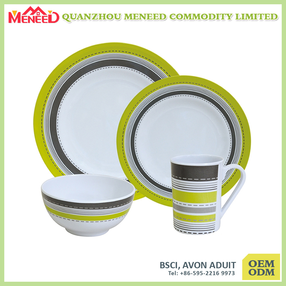 4PCS USA Market Hot Sell Melamine Dinnerware
