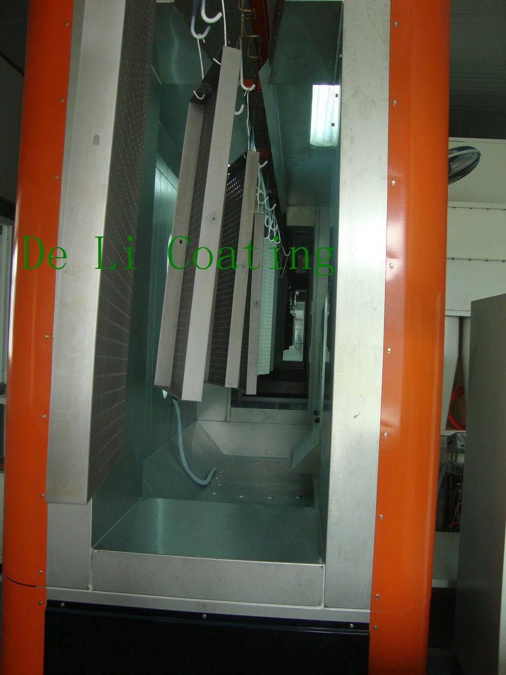 China powder coating booth china powder spray booth for Powder coating paint booth