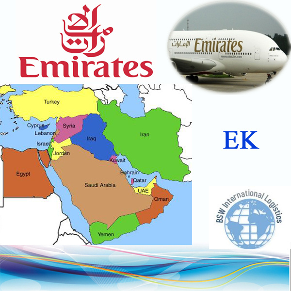Emirates Skycargo Ek Ariline to Sub-Continent by Air Express