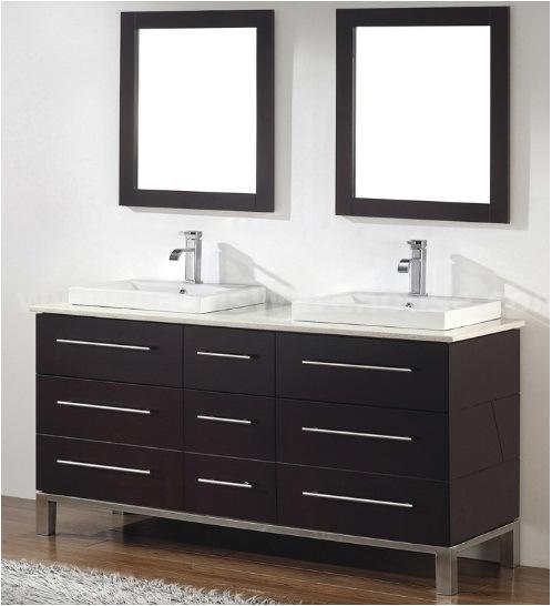 china 62 7 39 double sinks wooden bathroom vanity cabinet